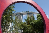 Marina Bay Sands through an archway